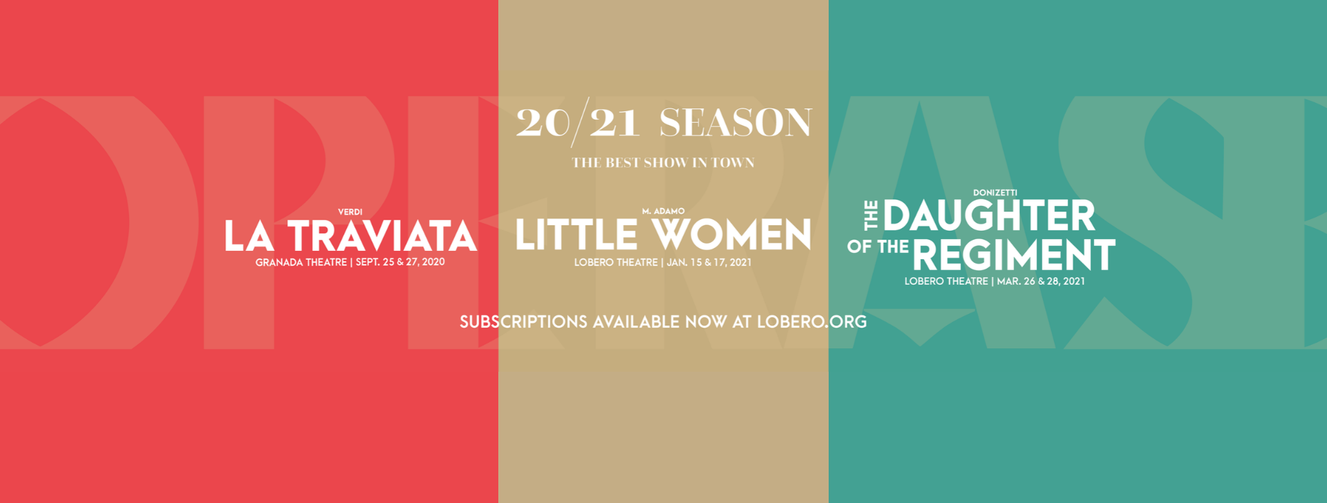 20|21 Season Subscriptions