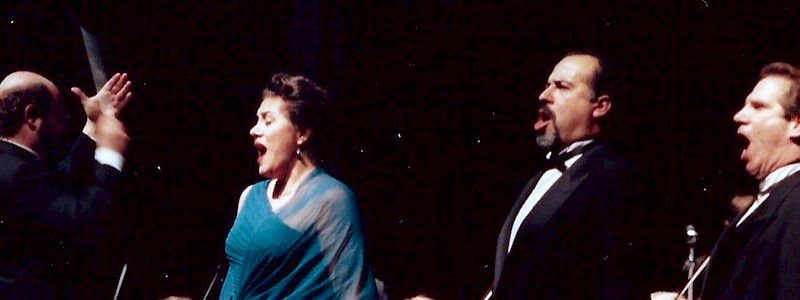Il Trovatore in Concert, January 1999, Photo by David Bazemore